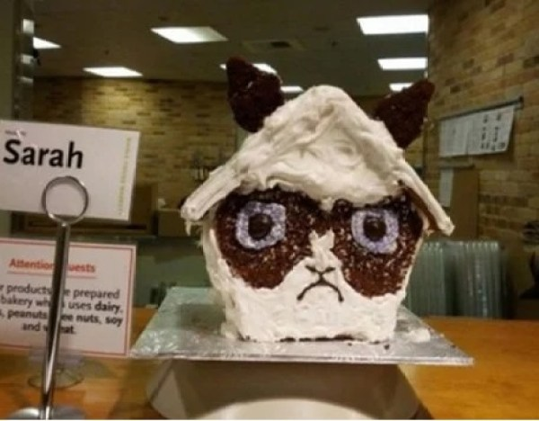 Grumpy Cat Gingerbread House