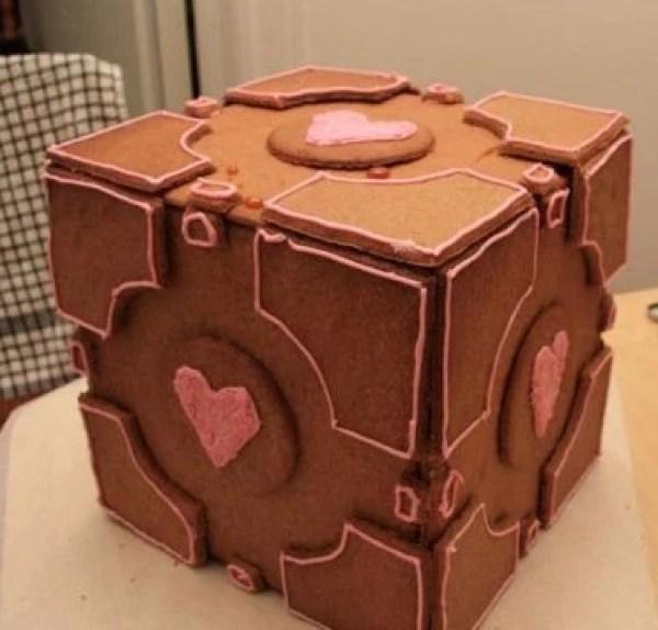 Gingerbread Portal Cube