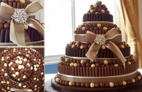 Chocolate Finger wedding cake