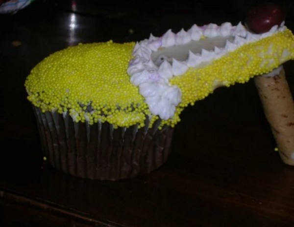 Yellow High Heels Cupcakes