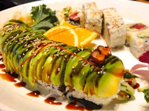 Caterpillar Avocado Roll