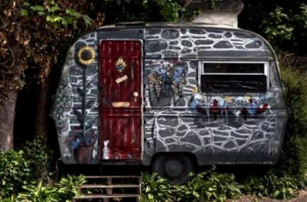 Stone Effect Caravan