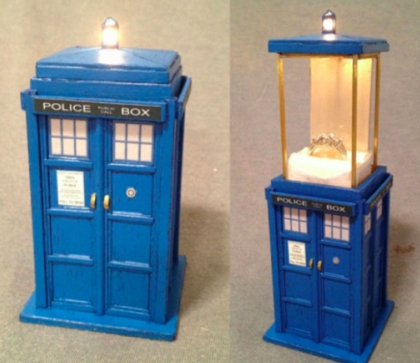 TARDIS Inspired Ring Box