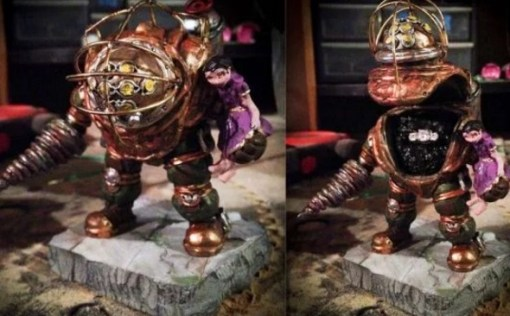 Custom Bioshock Big Daddy Engagement Ring Box