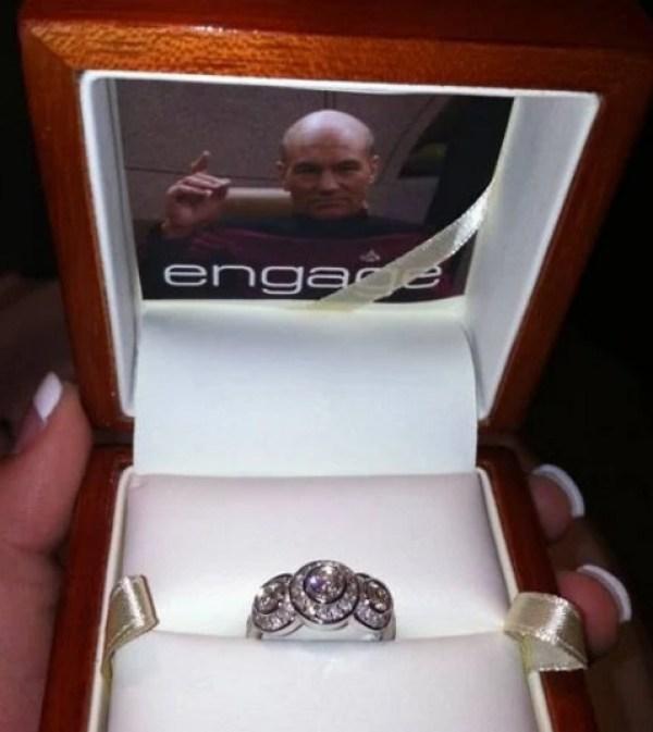 Captain Jean-Luc Picard Proposal ring box