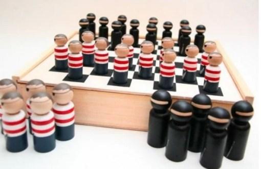 Pirates vs. ninjas Checkers Set