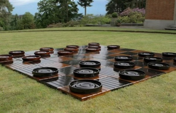 Oversized, Outdoor Checkers Set
