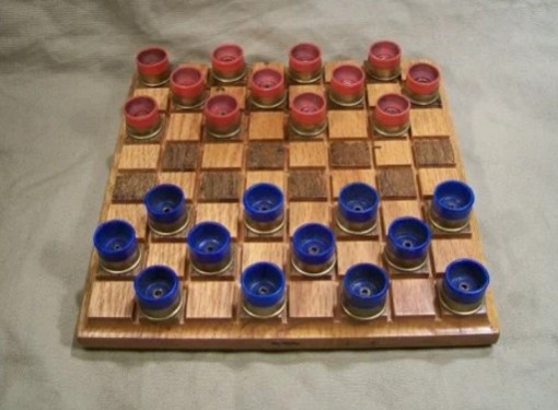 Shotgun Shell Checkers Set