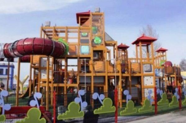 Angry Birds Style Children's Playground