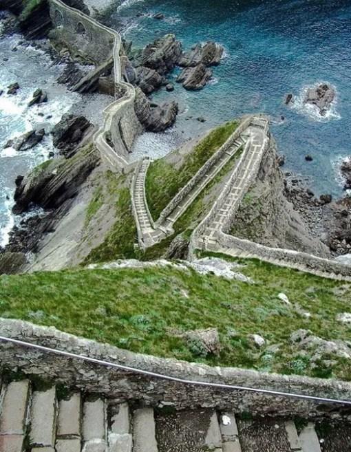 Staircase in Aketx, Basque County