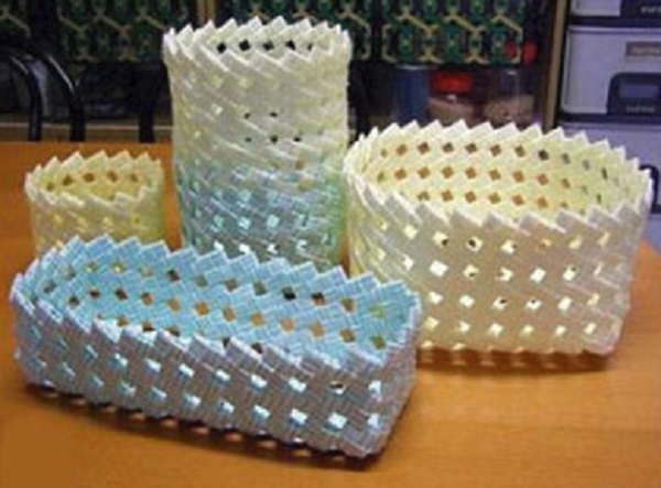 Baskets Make With Drinking Straws