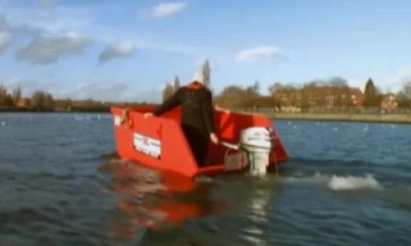 Refuse Skip made into Boat