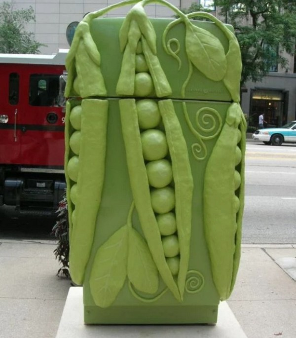 Garden Peas Style Fridge/Refrigerator