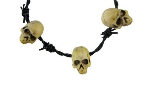 Necklace made from Barbed Wire