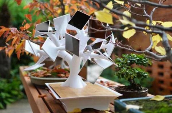 Bonsai Tree Made from Mirror Leafs
