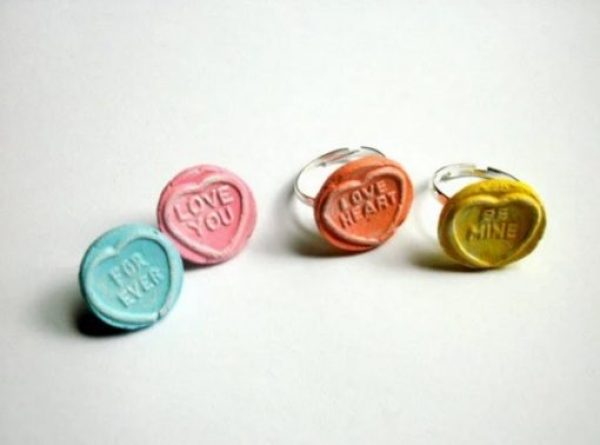 Love Heart Sweets Ring