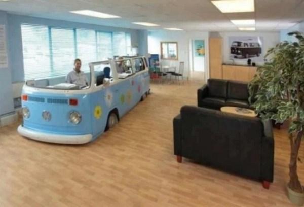 Volkswagen Campervan styled office desk