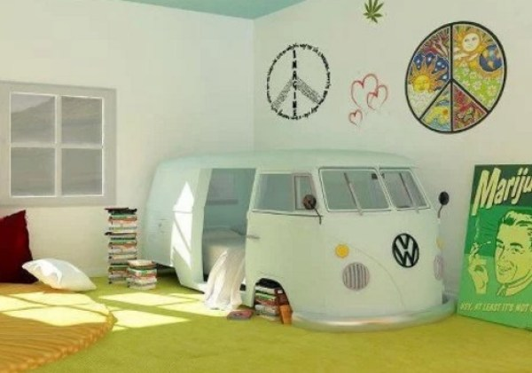 Volkswagen Campervan styled bed