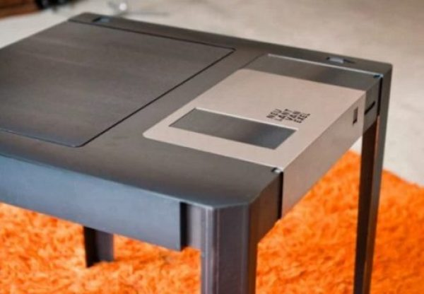 Diskette coffee table