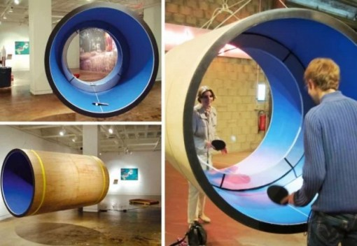 Table tennis game made from pipe
