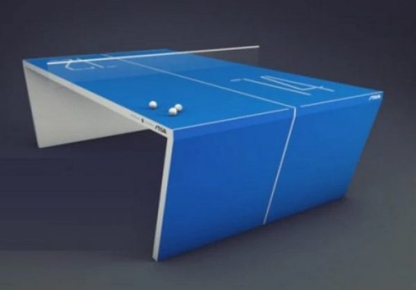 interactive table tennis game