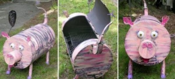 Pig Inspired BBQ Grill
