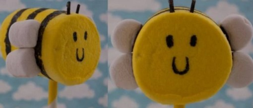 Marshmallow bee
