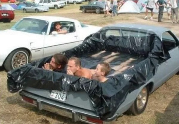 Swimming Pool Made With a Pick-up Truck