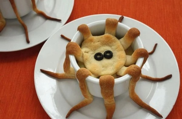 Octopus-shaped pie