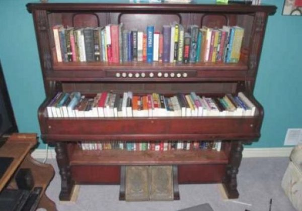 Piano Turned into book-case