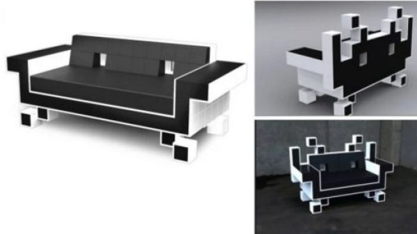 Space Invaders inspired couch