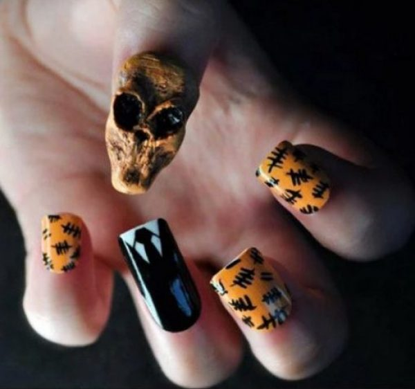 Doctor Who Enemy: Silence Nail Art