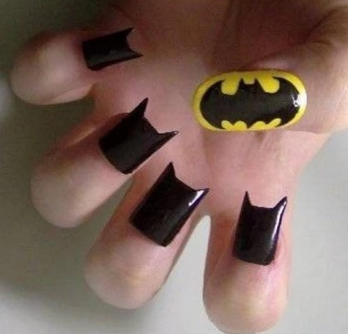 Top 10 nerdy and unusual nail art batman nail art prinsesfo Images