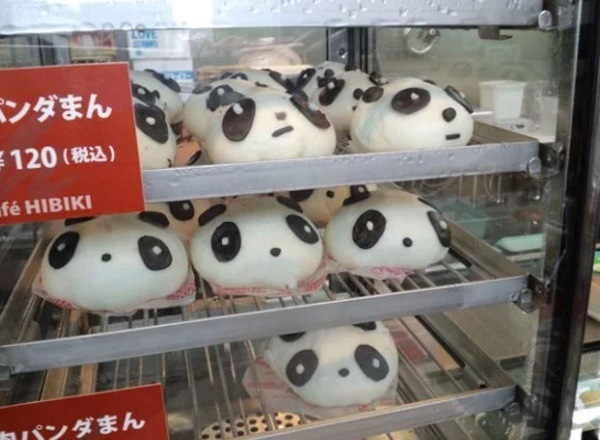 Panda Inspired Steamed Bun