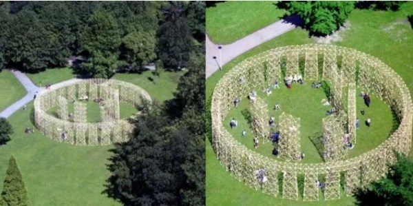 Stonehenge replica made of Bamboo