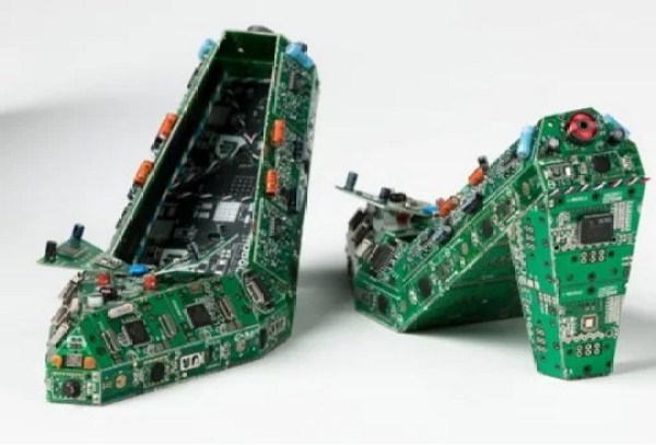 Shoes Made With Circuit Board