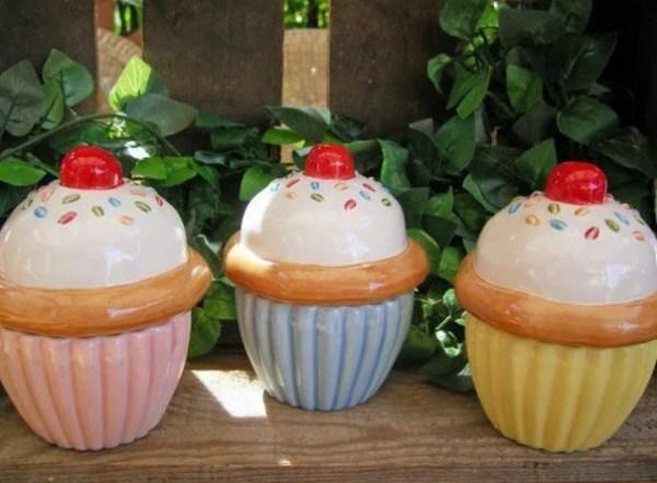 Cupcake Inspired Storage Bowls