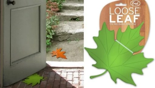 A door stop that looks like a leaf