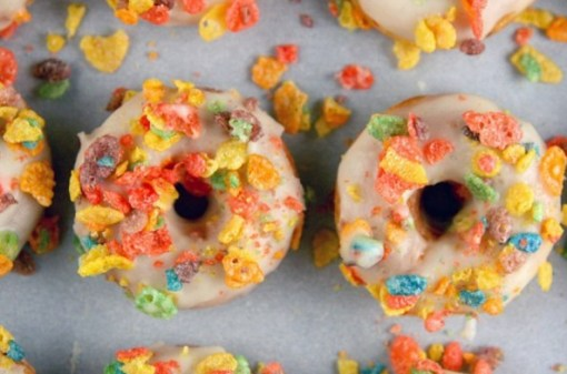Fruity Pebble Frosted Doughnuts