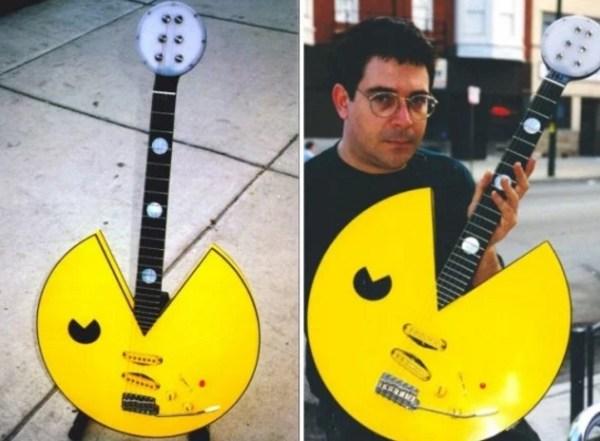 Pac-Man Custom Made Guitar