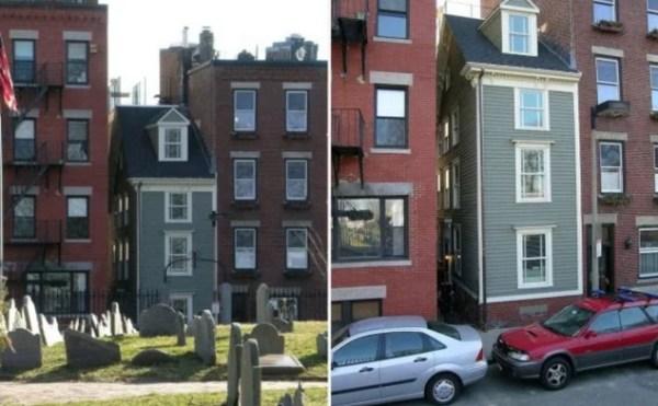 Thin house in Boston, Massachusetts, USA