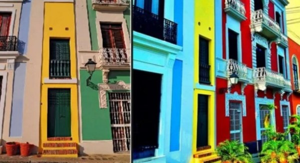 Thin house in Old San Juan, Puerto Rico