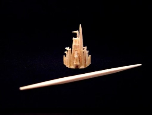Cinderella Castle Toothpick Sculpture by Steven Backman
