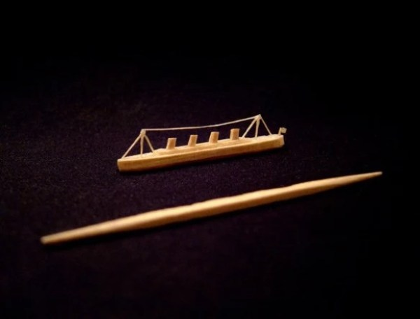 Titanic Toothpick Sculpture by Steven Backman