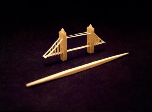 Tower Bridge Toothpick Sculpture by Steven Backman