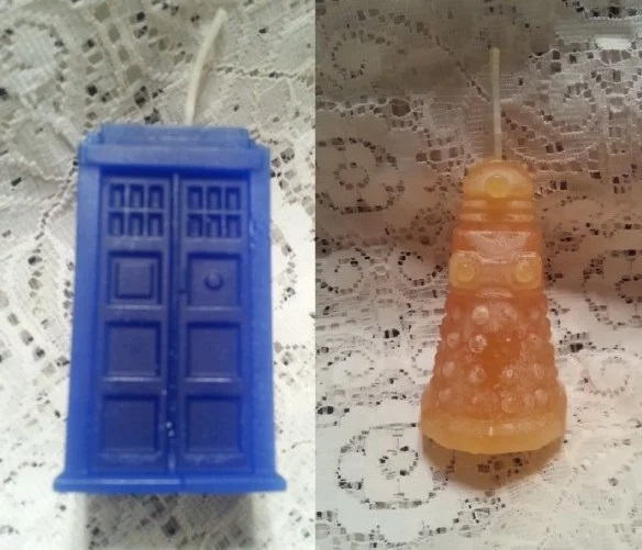 Doctor Who and Dalek Candles
