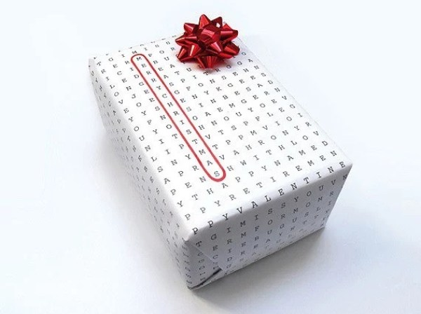 Word Hunt Gift Wrapping Paper
