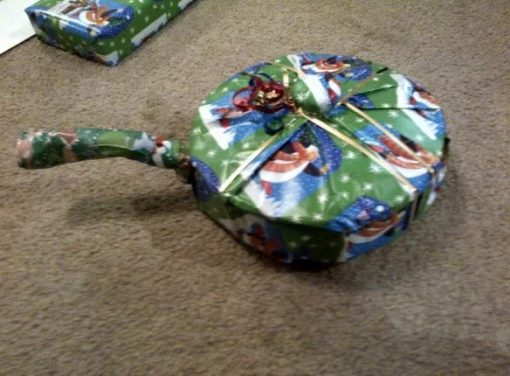 Gift Wrapped Saucepan