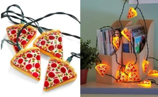 Pizza Christmas String Lights