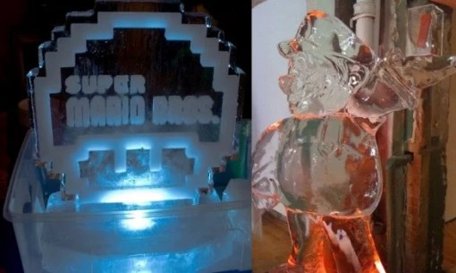Super Mario Inspired Ice Sculpture